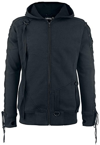 Gothicana by EMP Straped Hoodie Felpa jogging nero XL