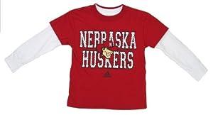 adidas Nebraska Cornhuskers Youth Red White T-Shirt Combo Set by adidas
