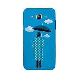Back cover for Samsung Galaxy E5 Umbrella Illustration