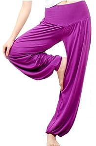 Hoter Womens Soft Elastic Waistband Fitness Yoga Herem Pants from H:oter
