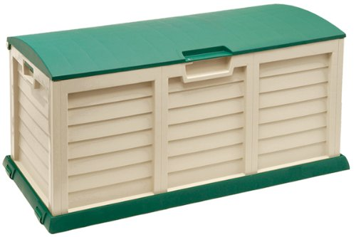 Plastic 390L Beige Garden Storage / Cushion Box / Shed
