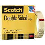 Scotch® Double Sided Tape 665, 1 Inch x 1296 Inches, Boxed