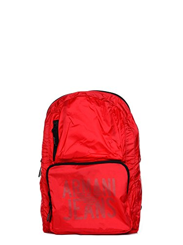 Armani Jeans Foldable Uomo Backpack Rosso