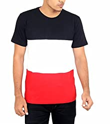 Younsters Choice Men's Cotton T-Shirt (YC-5817_Multi_Large)