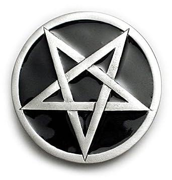 PENTAGRAM Belt Buckle Baphomet Nu Metal Punk