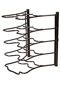 Ace Chef (Bronze) Kitchen Storage Solutions Cabinet Pan Rack Organizer Kitchen Shelves Pot Rack Pot Holder for Roasting Frying Pans Fits Inside Your Cabinet Pot Hangers Kitchen Organizers