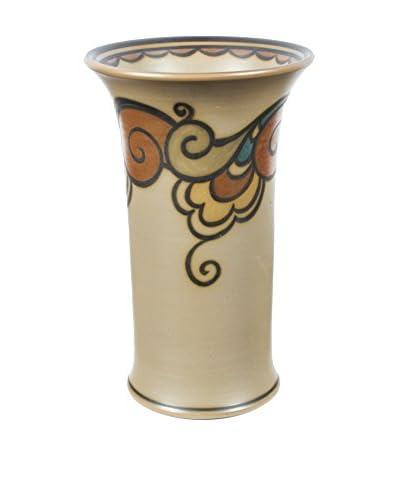 Hjorth Of Denmark Vase, Brown/Black/Blue/Orange