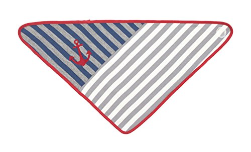 Organic Farm Buddies, Gray Stripes Bandana Bib - 1