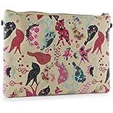 Women's Canvas Bird Print Clutch Bag Cosmetic