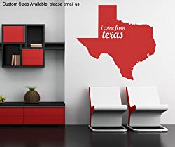 Vinyl Wall Decal Sticker Texas State Map OS_MB180B