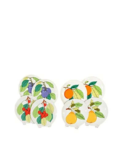 Uptown Down Previously Owned Set of 8 Fruit-Themed Porcelain Salad Plates