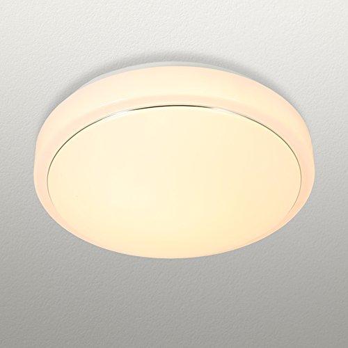 jdong, piccolo rotondo PLAFONIERA LED luce lampada da soffitto Modern con sottile anello argentato bianco 18W alta trasmissione della luce tre colori (argento/bianco)