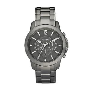 Fossil Herren-Armbanduhr XL Analog Edelstahl beschichtet FS4584
