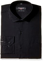 Dennison Men's Formal Shirt (SS-16-384_Black_44)