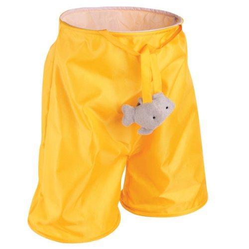 Zanies Fish'N Fun Nylon Cat Play Tunnel Pant, 20-Inch, Yellow front-10734