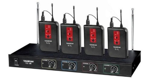 Takstar Tc-4R 4-Channel Vhf Wireless Microphone System (1-Receiver+4-Tl)