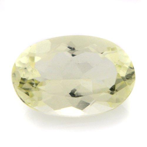 Natural Yellow Beryl Loose Gemstone Oval Cut 1.10cts 8*5mm VS Grade Marvelous