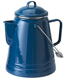 GSI Outdoors Pioneer Blue Enamelware 36 Cup Coffee Boiler by GSI