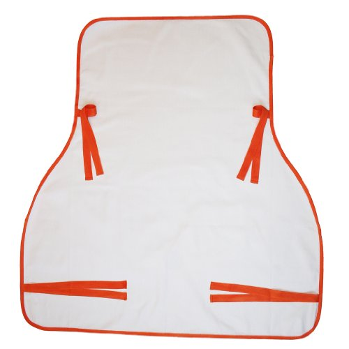 Rain or Shine Kids UPF 45+ Suncover for Baby, White/Sun Orange Edging