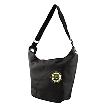 NHL Boston Bruins Ladies Colo Sheen Hobo Purse, Black by Littlearth