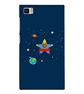 EPICCASE Space star Mobile Back Case Cover For Xiaomi Mi3 (Designer Case)