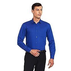 Canary London Dashing Look Blue Men's Formal Shirt