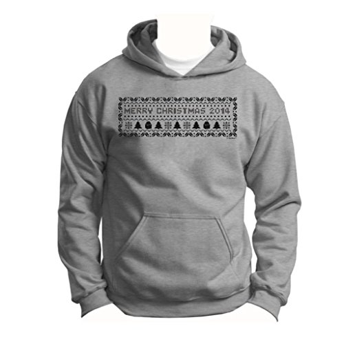 Christmas 2014 Ugly Christmas Sweater Banner Youth Hoodie Sweatshirt Small Sport Grey