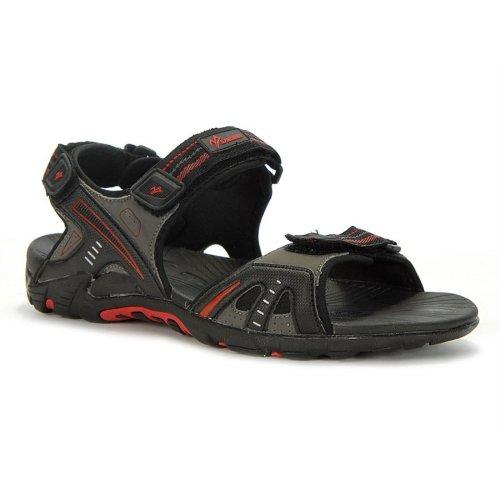 Alpine Crown - Rlx Active Mens Sandals - 134517015 - Colore: Grigio-Nero-Rosso - Taglia: 43.0