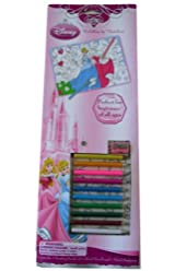 Disney Princess Coloring By Numbers 12 Piece Set - Art Supplies