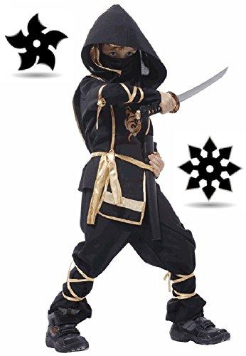 [SPJ: Children Ninja Martial arts Costume 7-piece set / Japan Halloween Cosplay] (Naruto Cosplay Costumes Amazon)