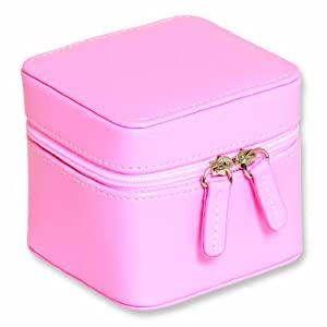 Pink Mini Zippered Jewelry Case
