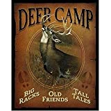 Wild Wings Deer Camp Tin Sign
