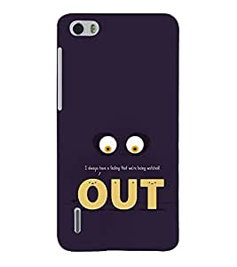 Funny Eyes Out 3D Hard Polycarbonate Designer Back Case Cover for Huawei Honor 6