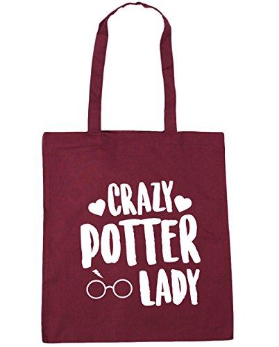 hippowarehouse-crazy-potter-lady-tote-shopping-gym-beach-bag-42cm-x38cm-10-litres