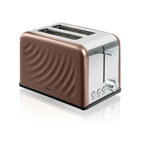 Swan Kitchen Appliance Set - 1.6L Twist Kettle and 2 Slice Twist Toaster - Copper
