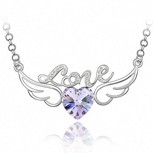 TAOTAOHAS donna elementi di swarovski cristallo lungo maglione collane [ amore angelo, viola ], 18KGP Rhinestone