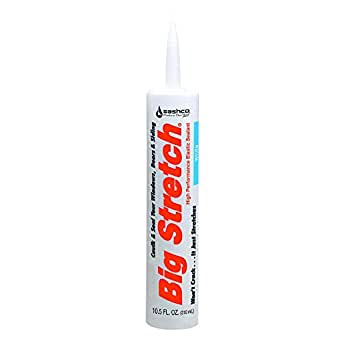 Sashco 10016 Big Stretch Caulk 10.5-Ounce Cartridge, White