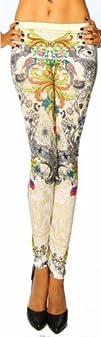Amour Womens Pattern Leggings Cotton Stretch Pant
