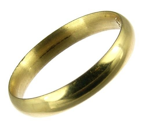 Kareco 18ct Yellow Gold 3mm Light Court Wedding Ring