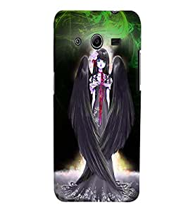 Fuson Fly Girl Back Case Cover for SAMSUNG GALAXY CORE 2 - D3859
