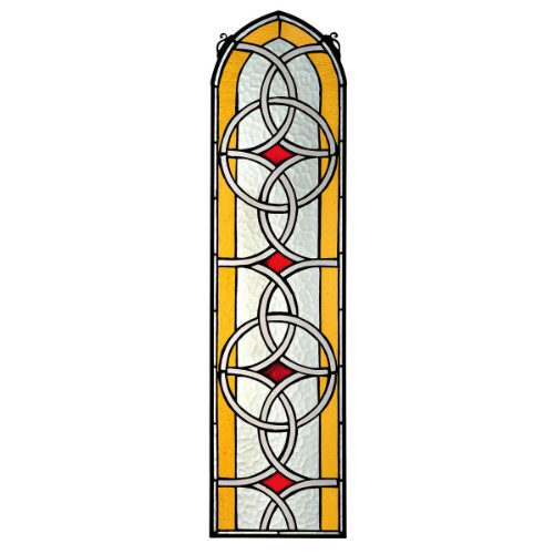 Design Toscano Celtic Knotwork Tiffany-Style Stained Glass Window, Full Color (Celtic Knot Bracket compare prices)