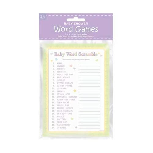 baby shower word games 24ct