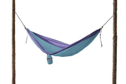 Grand Trunk Double Parachute Nylon Hammock (Sky Blue/Purple)