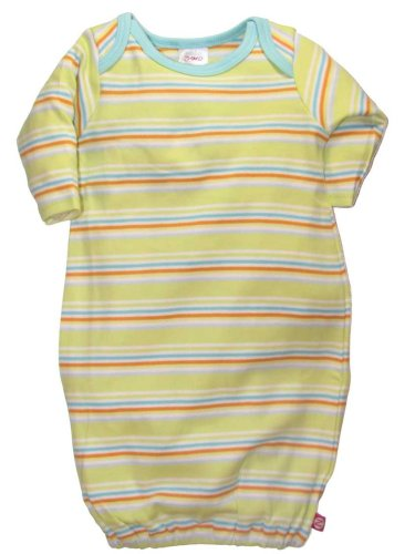 Itzy Bitzy Multi-Stripe Celery Gown by Zutano - Buy Itzy Bitzy Multi-Stripe Celery Gown by Zutano - Purchase Itzy Bitzy Multi-Stripe Celery Gown by Zutano (Zutano, Zutano Apparel, Zutano Toddler Boys Apparel, Apparel, Departments, Kids & Baby, Infants & Toddlers, Boys, Sleepwear & Robes)