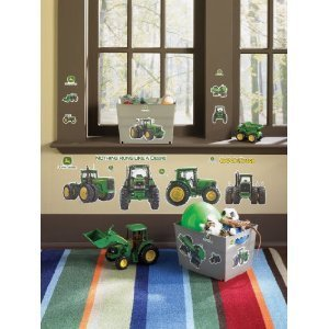 John Deere 16 Big Wall Stickers Tractor Room
