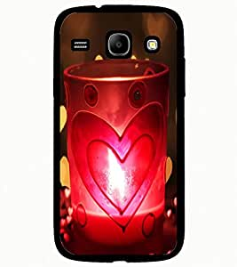 ColourCraft Love Candle Design Back Case Cover for SAMSUNG GALAXY CORE I8262 / I8260