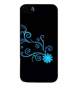 printtech Butterfly Starry Sparkling Back Case Cover for Apple iPhone 5S