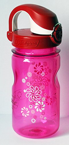 Nalgene-Everyday-OTF-Kids-0375-L-pink-Rder-mit-Deckel-rot-wei