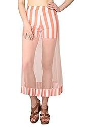 Shararat Women's Skirt (9158_Peach_24)