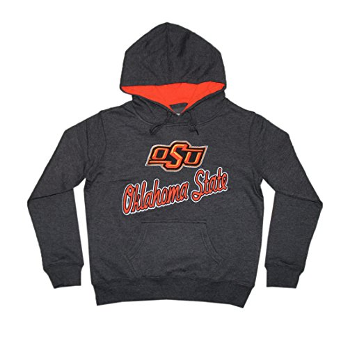 NCAA Youth OKLAHOMA STATE COWBOYS Athletic Pullover Hoodie L DarkGrey
